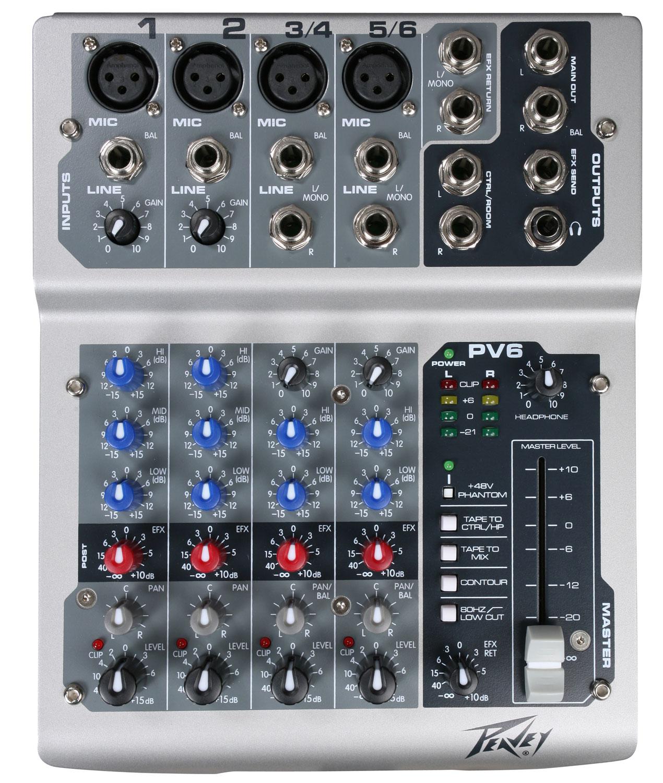 PV6 6Channel live mixer edinburgh