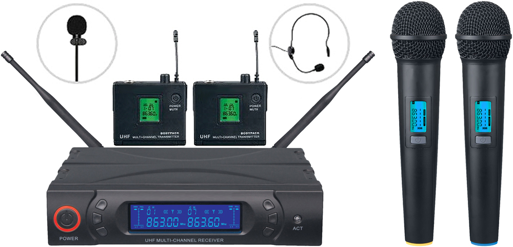 VHF Radio mic systems (Hand/Lapel/head) edinburgh