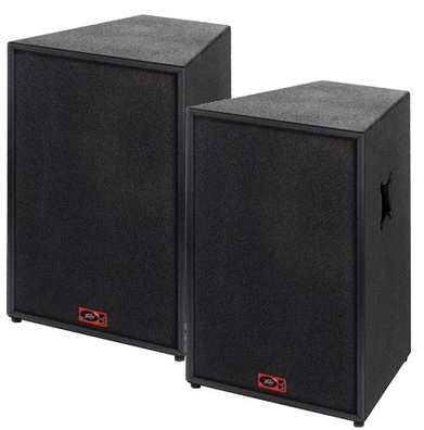 15″ + horn 1000w Speakers (pair) edinburgh